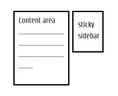 sticky floating sidebar