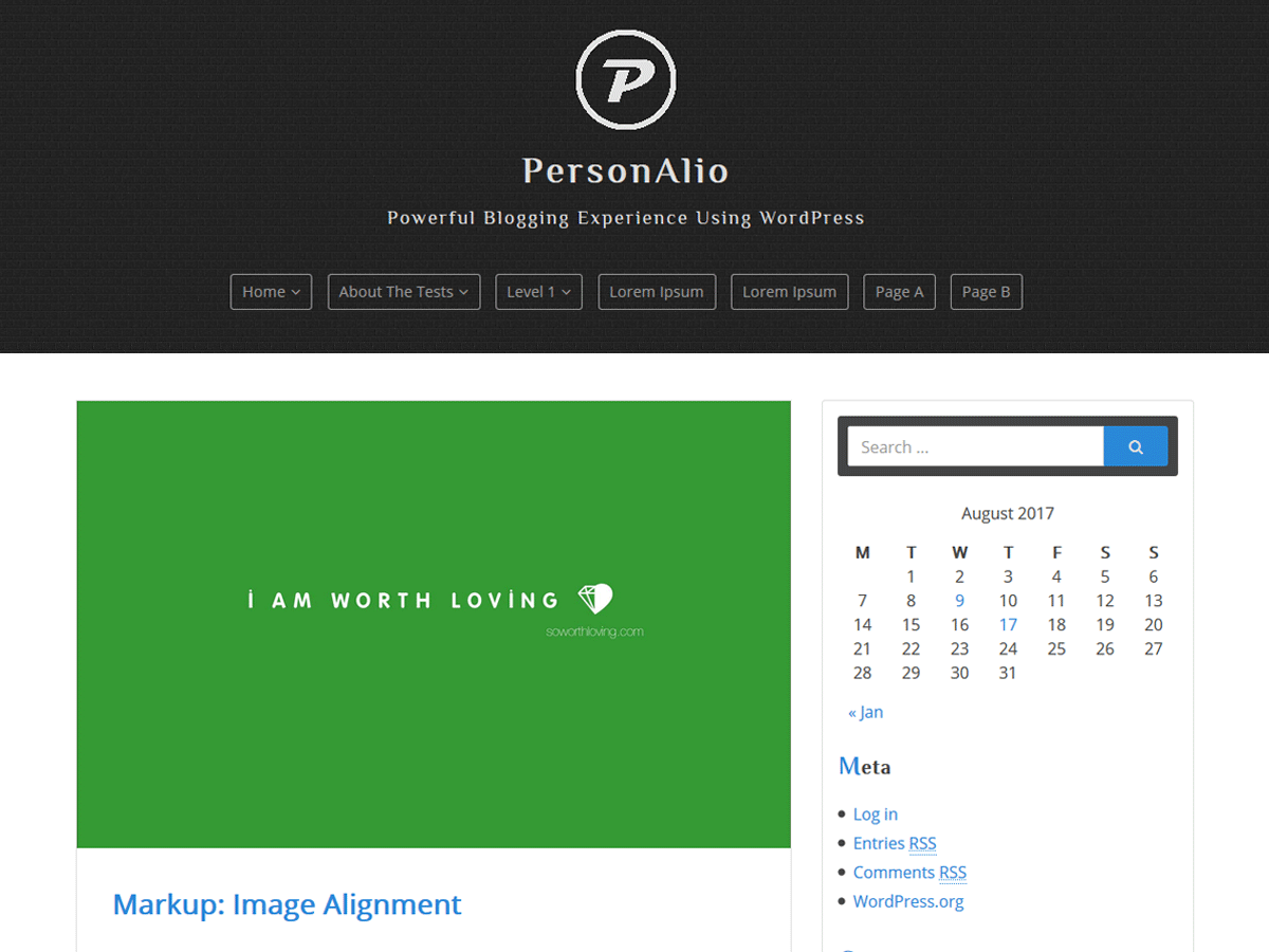 personalio theme screenshot