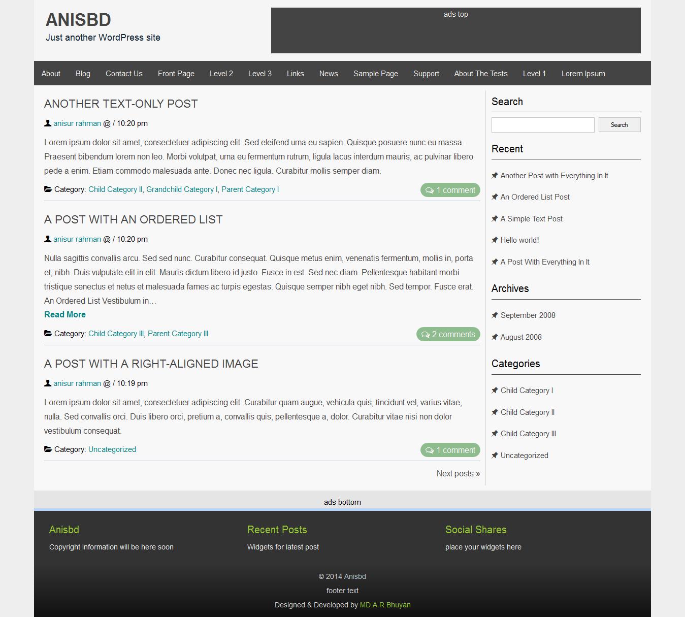 Personel Blog Design