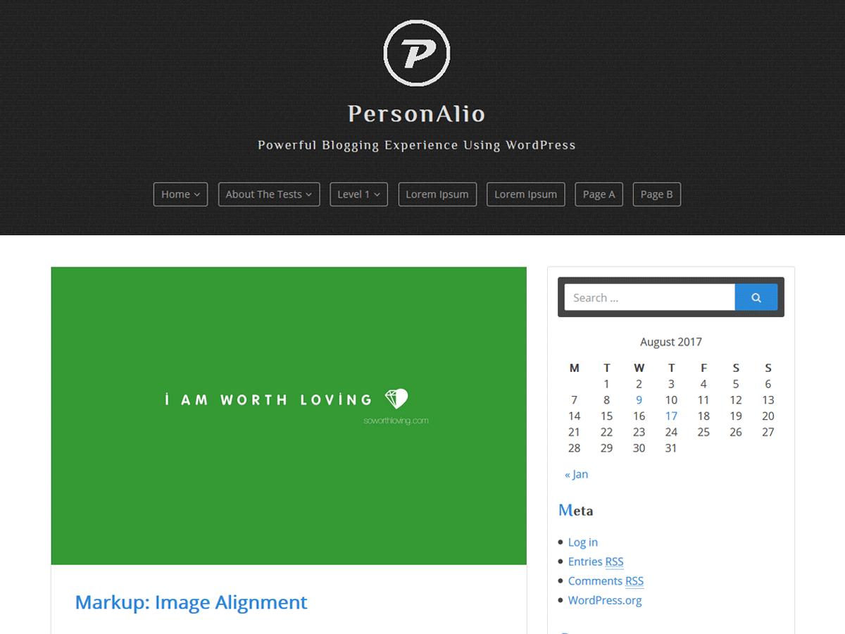 personalio theme screenshot